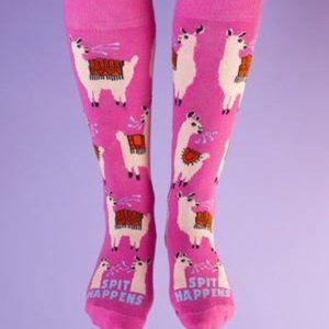 NEW Freaker Feet Spit Happens Llama Socks